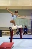 Oksana Chusovitina (UZB). ANADIA, PORTUGAL - JUNE 21: Oksana Chusovitina (UZB) during the Art Gymnastics FIG World Cup Challenge on june 21, 2013 in Anadia Stock Photo