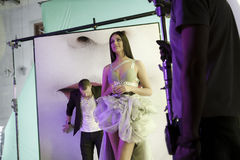 Oksana Fedorova' clip making Royalty Free Stock Photo