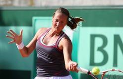 Oksana Kalashnikova (GEO) in Roland Garros 2011 Royalty-vrije Stock Afbeelding