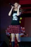 Oksana Pochepa - chanteur russe de bruit Photos stock