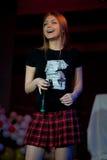 Oksana Pochepa - Russische pop zanger Royalty-vrije Stock Foto