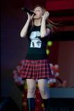 Oksana Pochepa - Russische pop zanger Stock Foto's