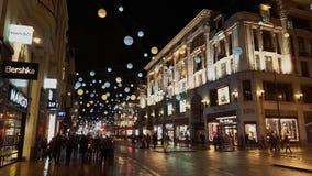 Oksfordzcy Uliczni bożonarodzeniowe światła i dekoracje Obraz Stock