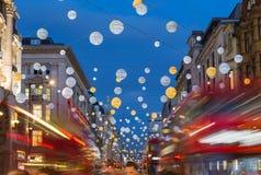 Oksfordzka ulica przy bożymi narodzeniami Zdjęcie Royalty Free