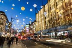 Oksfordzka ulica przy bożymi narodzeniami Fotografia Royalty Free