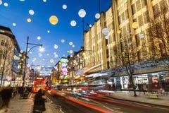Oksfordzka ulica przy bożymi narodzeniami Obraz Royalty Free