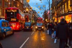 Oksfordzka ulica w drugim dniu świąt bożego narodzenia Fotografia Stock