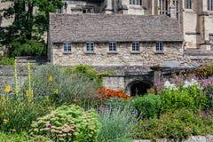 Oksfordzki Anglia Dziejowy Średniowieczny Kamienny budynek Obraz Royalty Free