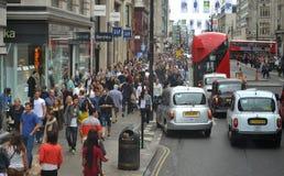 Oksfordzki Uliczny Londyn Zdjęcia Royalty Free