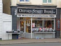 Oksfordzkie ulic książki Obraz Royalty Free