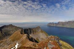 Okshornan, Insel Senja, Norwegen Stockfotografie