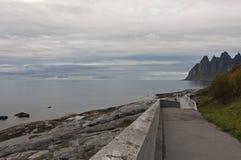 Okshornan, Insel Senja, Norwegen Stockbild