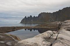 Okshornan, Insel Senja, Norwegen Lizenzfreies Stockfoto