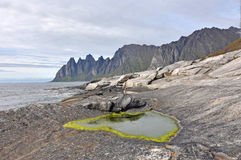 Okshornan, island Senja, Norway Royalty Free Stock Image