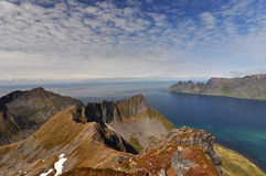 Okshornan, island Senja, Norway Stock Photography