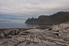 Okshornan, island Senja, Norway Royalty Free Stock Images