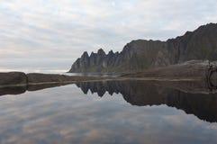 Okshornan, island Senja, Norway Stock Photo