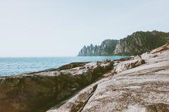 Okshornan maxima och hav i Norge arkivbild