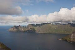 Okshornan, wyspa Senja, Norwegia Obraz Royalty Free