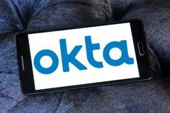 Okta företagslogo royaltyfri foto