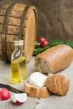Oktawa, chleb i ser, jesteśmy na grabić Fotografia Stock