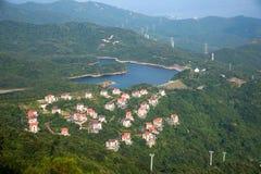OKTOBER östlig Shenzhen Meisha djungel som förbiser stationen för kabelbil på linjen 1 OKTOBER riddare Valley Ecological Park Fotografering för Bildbyråer