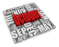Oktober lizenzfreie abbildung