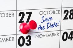 27 oktober Stock Afbeeldingen