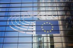 26 oktober, België, Brussel Het Europees Parlement de bouw royalty-vrije stock foto