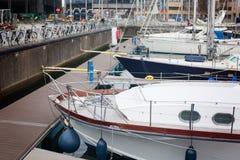 26 oktober, Belgi?, Oostende Marien jachtparkeren royalty-vrije stock afbeelding