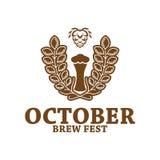 Oktober brouwt Fest-Kenteken royalty-vrije illustratie