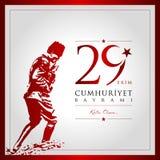 29 oktober dag av Turkiet Royaltyfria Foton