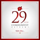29 oktober dag av Turkiet Royaltyfri Bild