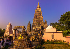 30 oktober, 2014: De Boeddhistische tempel van Mahabodhi in Bodhgaya, Ind. Stock Afbeelding