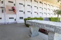 25 oktober de crypt van Marilyn ` s Monroe Stock Fotografie