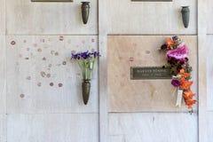 25 oktober de crypt van Marilyn ` s Monroe Royalty-vrije Stock Afbeeldingen