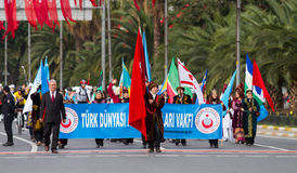 29 Oktober-de Dagviering van de Republiek van Turkije Royalty-vrije Stock Afbeeldingen