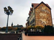 20 oktober, de Visserijdorp van 2017, Kaliningrad stock foto