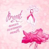 Oktober-de voorlichtingsmaand van borstkanker vector illustratie