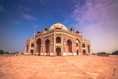 29 oktober, 2014: Detail van Humayun Tomb in New Delhi, India Stock Foto's