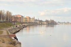 Oktober-dijk in St. Petersburg Stock Foto