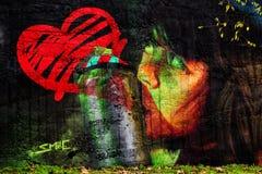 20 Oktober, 2016 een Graffiti door Glimlach in Braga wordt ondertekend dat Stock Foto's