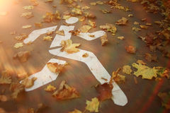oktober för 2008 höstbakgrundsleaves yellow Arkivbilder