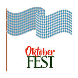 Oktober fest invitation poster Stock Image