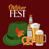 Oktober fest invitation poster Royalty Free Stock Photos