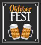 Oktober fest invitation poster Royalty Free Stock Photo
