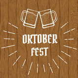 Oktober fest logo Royalty Free Stock Photos