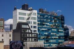 24 oktober, 2016 - Flatgebouwen - 459 die het Westen achttiende Straat door Della Valle wordt ontworpen + Bernheimer, Chelsea, Ne Royalty-vrije Stock Afbeeldingen