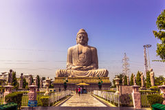 30 oktober, 2014: Het grote standbeeld van Boedha in Bodhgaya, India Royalty-vrije Stock Fotografie