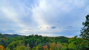 Oktober himmel Arkivfoto